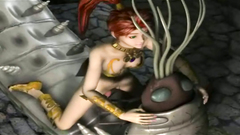 3d monster animation